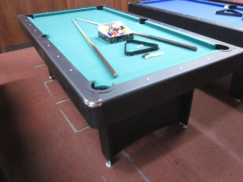 New model 7 ft pool table with accessories package green - Pool table green felt ...
