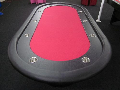 Red poker table felt